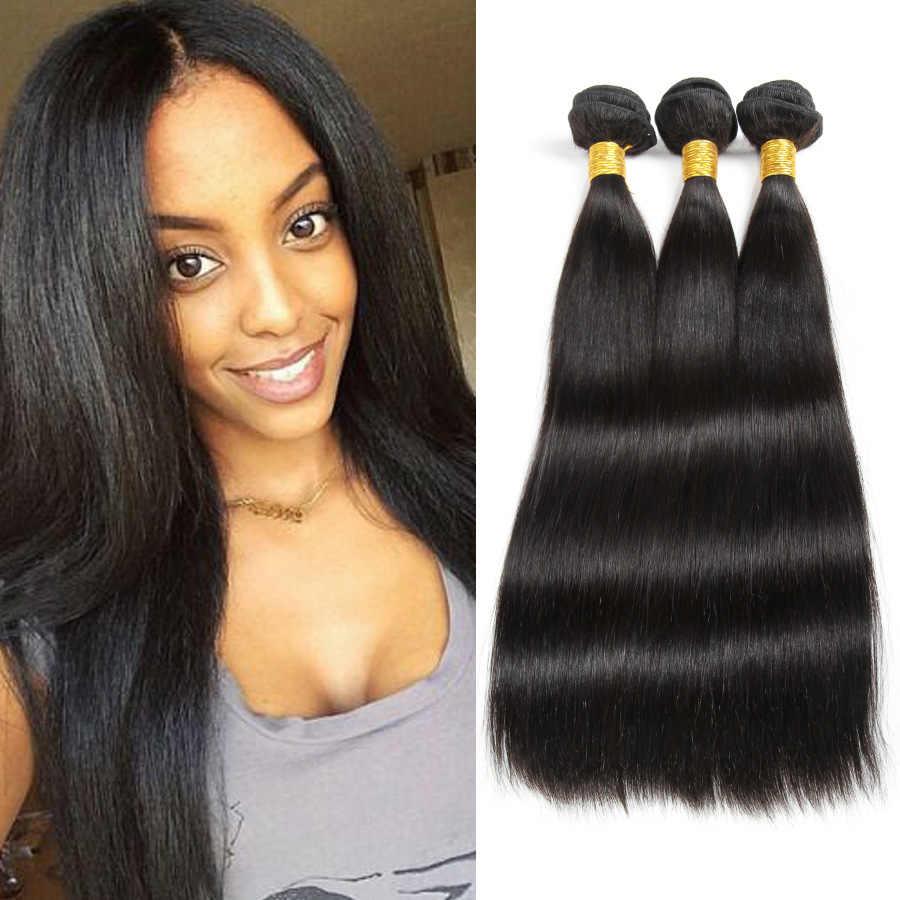 100g 8-26 cali SHUOHAN syntetyczny falowanie włosów pakiet dla kobiet naturalny czarny kolor wątek do przedłużania włosów prosto