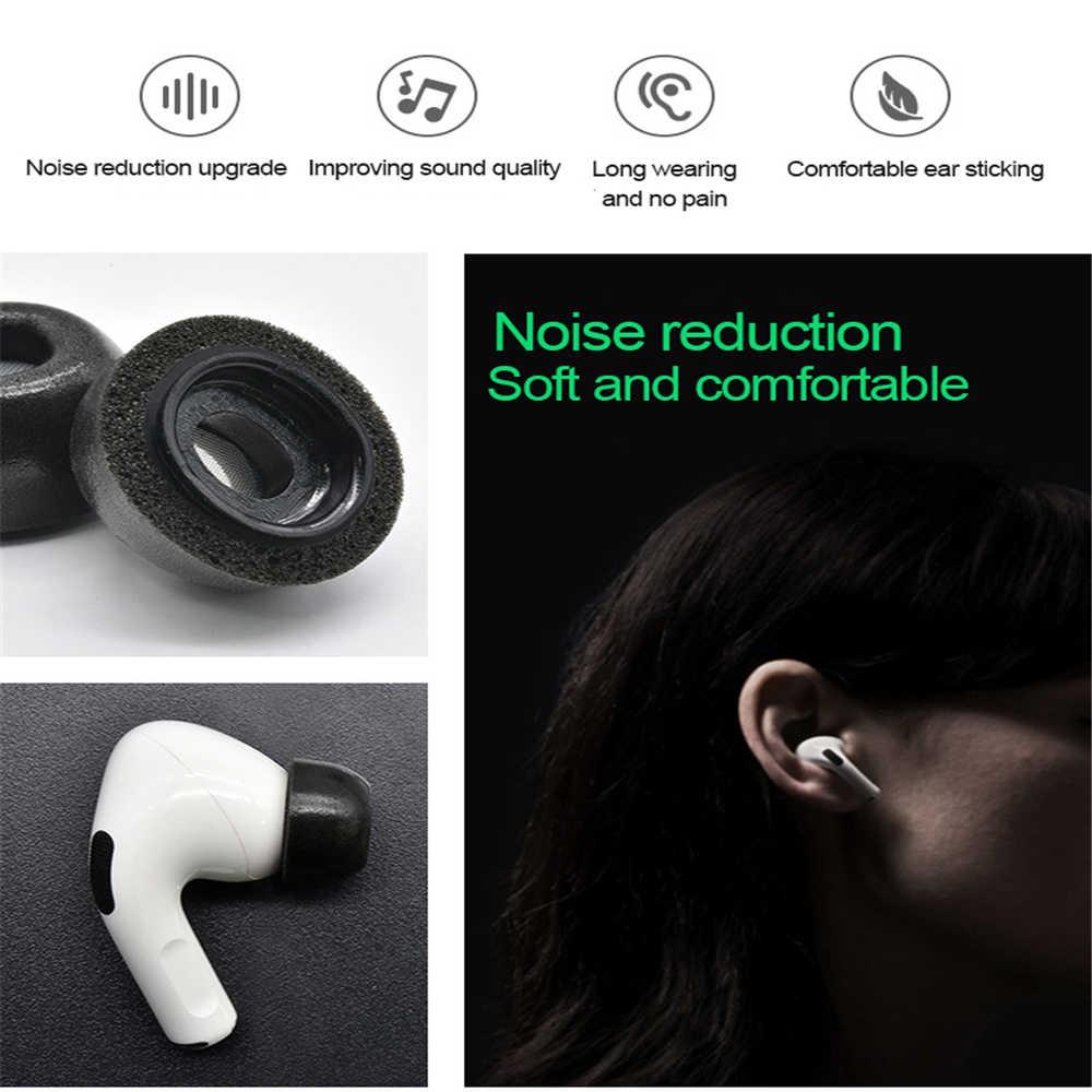 Isolat de bruit mousse à mémoire embouts d'oreille pour Airpods Pro remplacement écouteurs couverture protection écouteurs bouchons d'oreilles pour Apple Airpods Pro