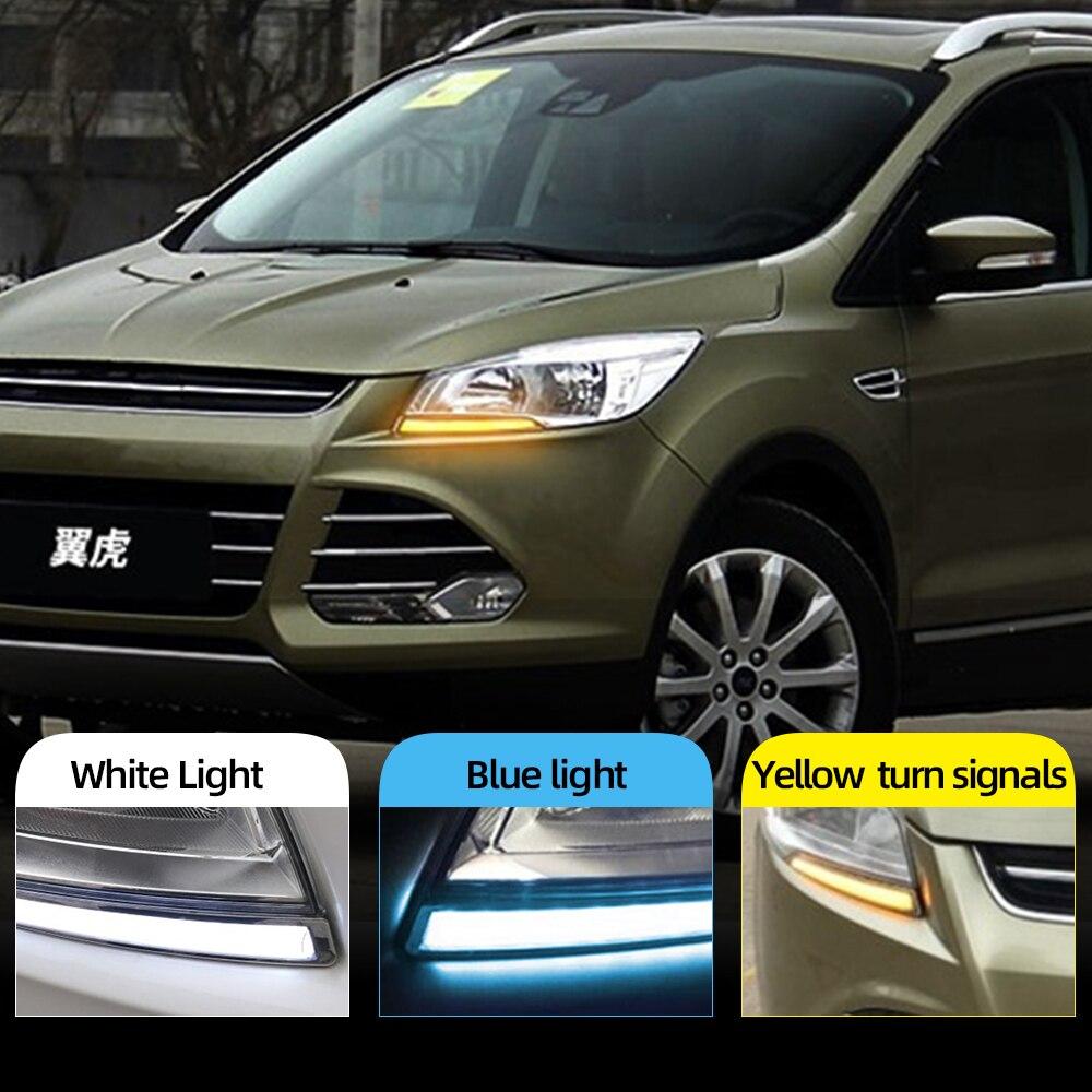 For Ford Kuga Escape 2013-16 LED DRL Daytime Running Light Fog Lamp Turn Signal