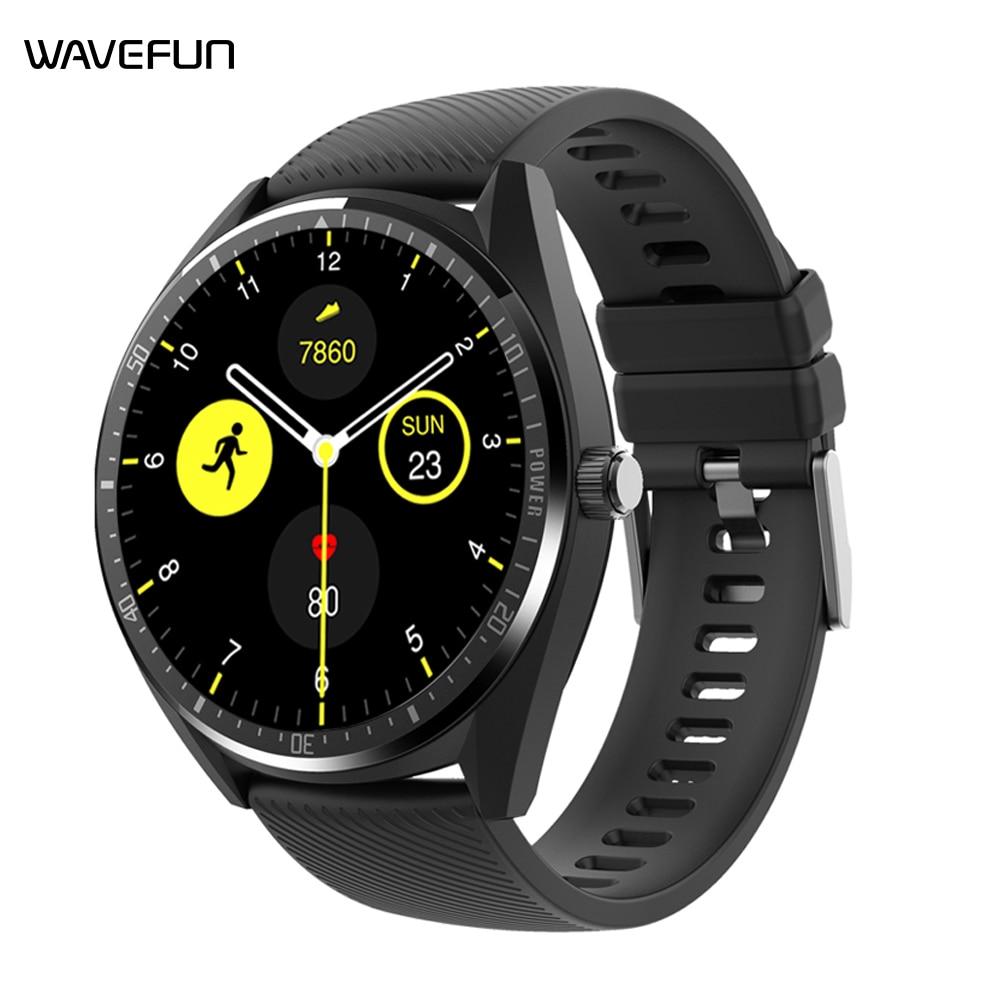 Wavefun aidig s relógio inteligente ip68 à prova dip68 água 1.28 Polegada tela monitor de freqüência cardíaca esportes 460mah tempo bateria longa para homens