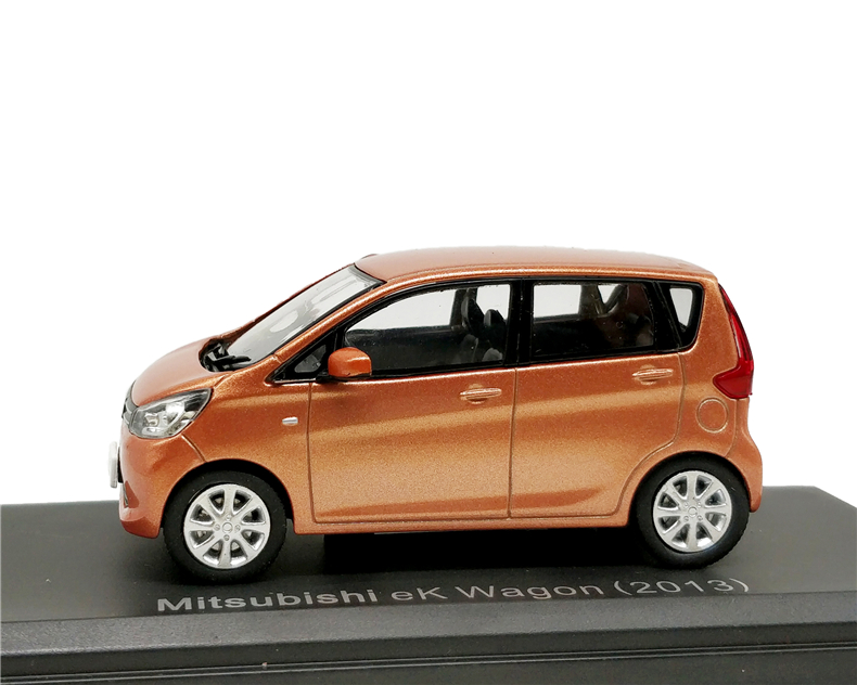 1:43 Mitsubishi eK Wagon 2013 Orange Diecast Model Car image