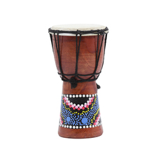 4 Inch African Tambourine Childrens Adult Practice Drum Entirely Handmade Making Musical instrument Color Random