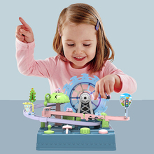 Baby Car Adventure Game Manual Vehicles Tracks Toys For Children Education Toys Ferris Wheel Track Game Puzzles Christmas Gift