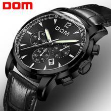 2018 New Watches DOM Men Watch Luxury Chronograph Men Sports Watches Waterproof
