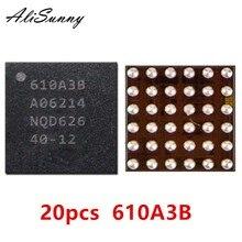 AliSunny 20pcs 610A3B עבור iPhone 7 בתוספת 7 P 7G USB U2 טעינת ic מטען ic שבב U4001 BGA 36Pin על לוח כדור תיקון חלקים