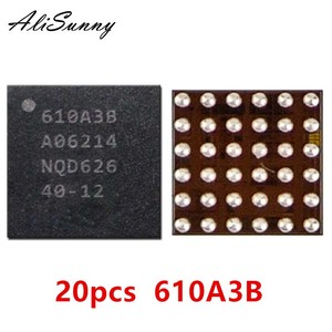 Image 1 - AliSunny 20pcs 610A3B עבור iPhone 7 בתוספת 7 P 7G USB U2 טעינת ic מטען ic שבב U4001 BGA 36Pin על לוח כדור תיקון חלקים