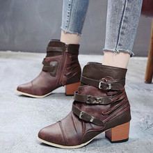 women ankle boots mid med heels pumps shoes woman  pointed toe  vintage  booties  wxz122 new spring autumn women shoes mid heels ankle boots knot flower pointed toe high quality drop shipping cute pumps qa3064