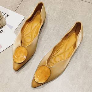 Image 4 - Zapatillas de Ballet para mujer, calzado sin cordones, poco profundo, para primavera y otoño, 2020