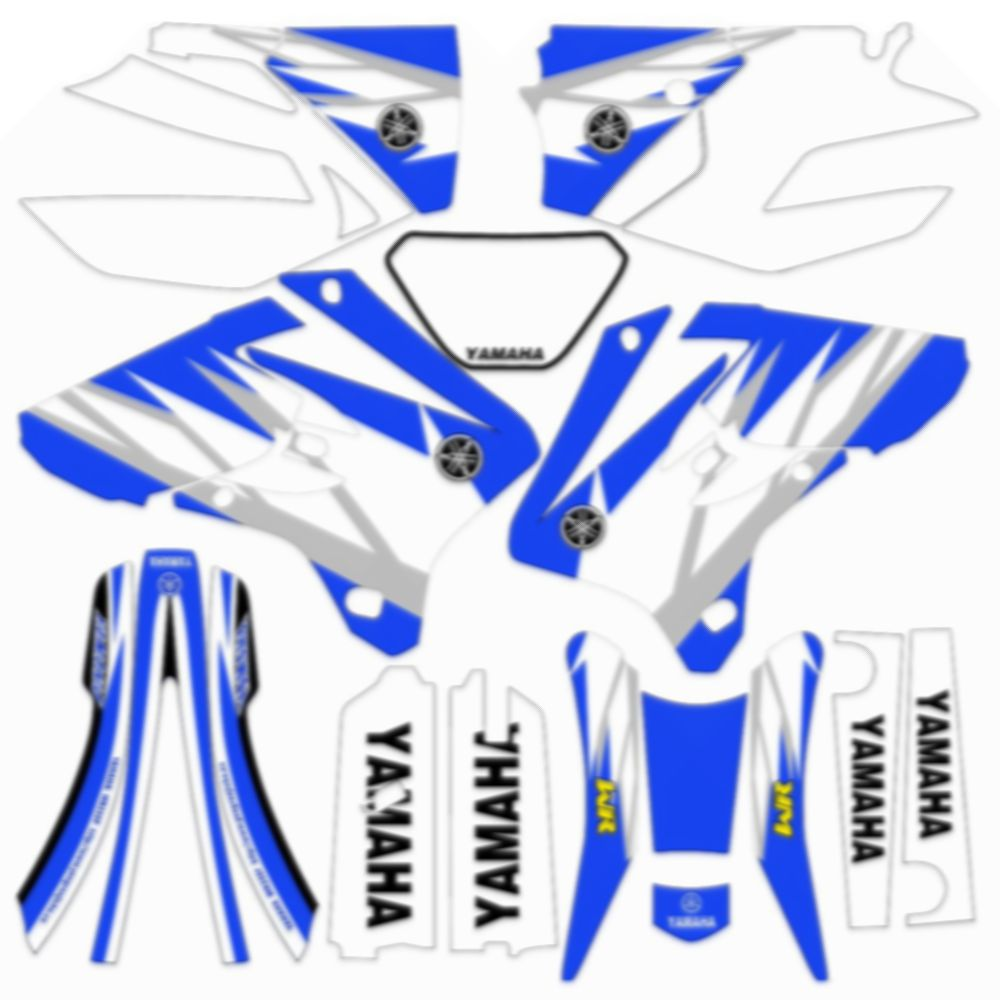 For YAMAHA WRF250F WR450F 2003 2004 New Full Graphics Decals Stickers Custom Number Name 3M Matte Stickers Waterproof