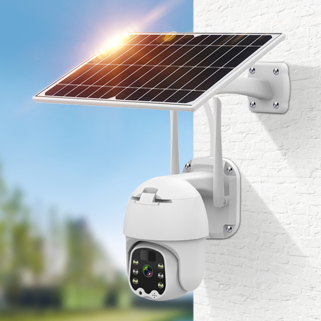 1080p 4g беспроводная камера безопасности на солнечных батареях фотография