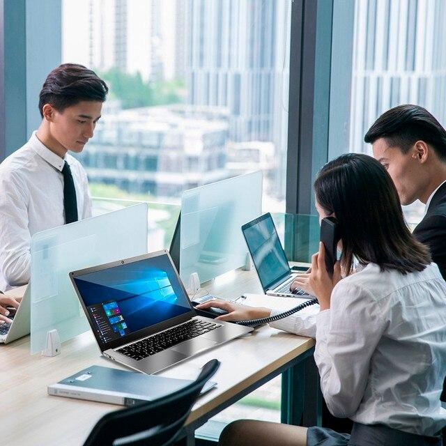 Intel J3455 13.3-inch laptop Windows 10 Pro 6GB LPDDR4 128GB 256GB SSD 1920*1080 IPS portable gaming laptop 4