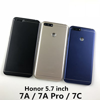 Para huawei honor 7a pro Aum l29/honor 7c Aum L41/honor 7a habitação bateria capa traseira e botões de volume de energia + logotipo Estojos de celular     -