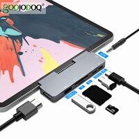 Hub USB C 60W PD ricarica per iPad Pro MacBook Air Switch per adattatore USB 3.0 compatibile HDMI tipo-c telefono con Jack per auricolari