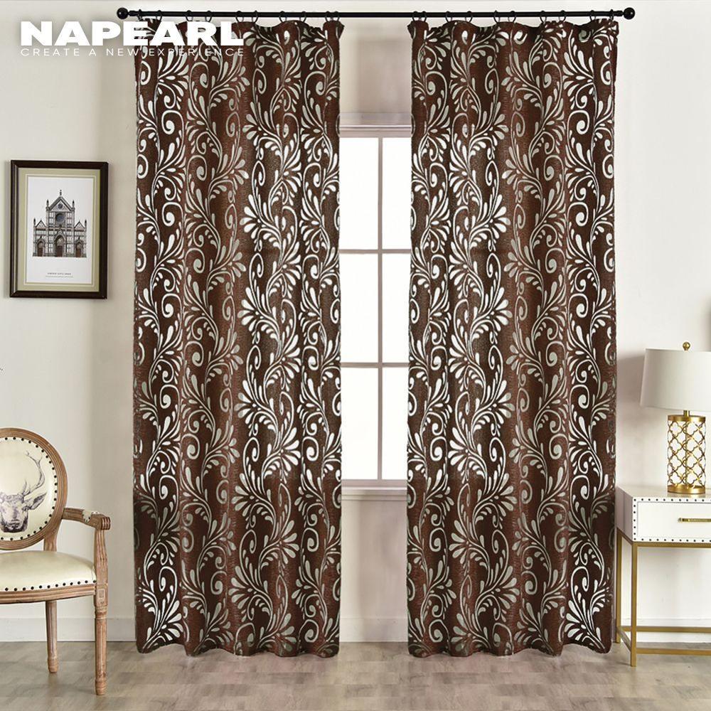 Pronto feito semi-cortinas blackout painel cego tecidos para janela moderna sala de estar tratamento roxo preto branco