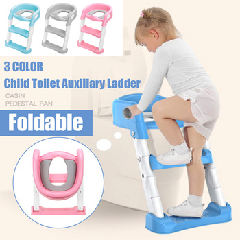 Baby Potty Infant Kids Toilet Training Seat With Safe Adjustable Ladder Height Portable Urinal Potty Toilet Seat for Kid