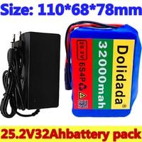 6s4p 24V 32Ah 18650 Batterie Lithium-Batterie 25,2 v 32000mAh Elektrische Fahrrad Moped/Elektrische/Li ion akku mit ladegerät