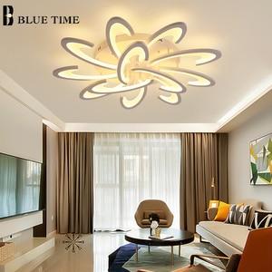 Image 2 - Modern Led Ceiling Light Black White Frame Home Ceiling Lamp for Living room Dining room Kitchen Bedroom Lamp Lighting Fixtures