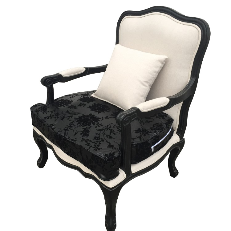American Country Retro Single Leisure Sofa European Fabric Bedroom Study Living Room Chair Hotel Solid Wood Tiger Chair