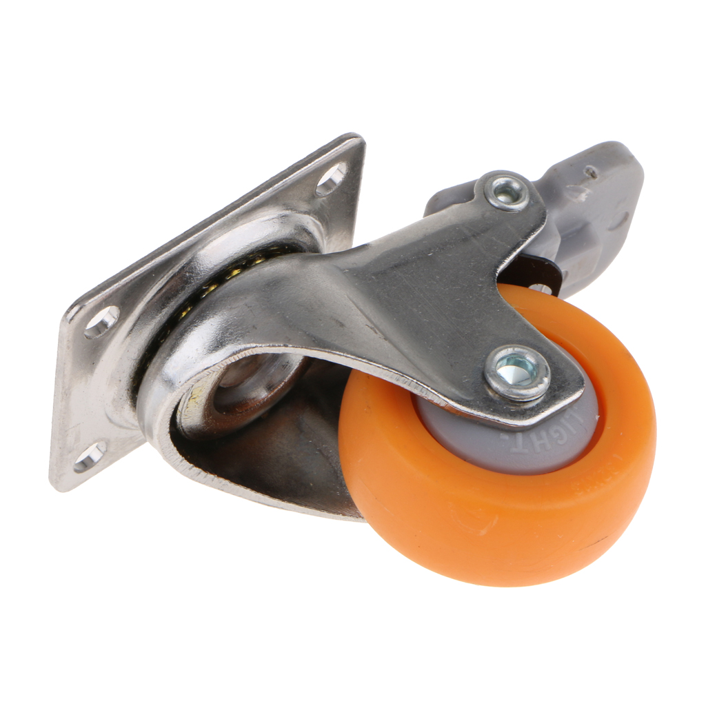 O rodízio resistente do giro de 1.25 polegadas roda a placa superior de 720 graus com capacidade do freio 17kg-4