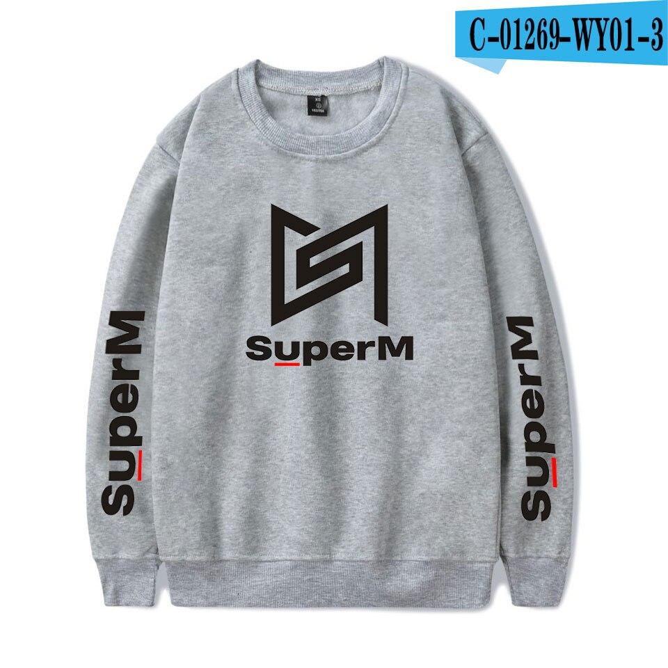 SuperM Korean Stylish Kpop Harajuku Printed  Harajuku Round Collar Sweatshirt Women/men College Stylish 2019 New Sweatshirt 13
