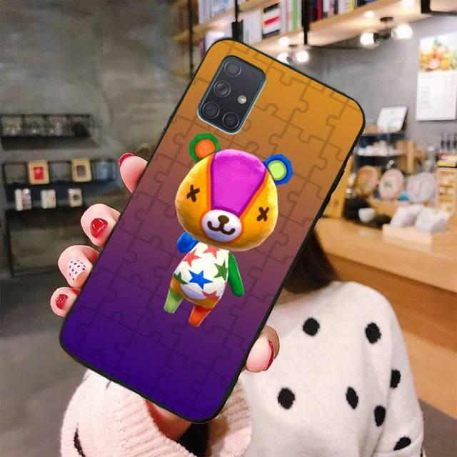 HPCHCJHM Animal Crossing nouveaux Horizons housse de téléphone pour Samsung A10 A20 A30 A40 A50 A70 A80 A71 A51 A6 A8 2018
