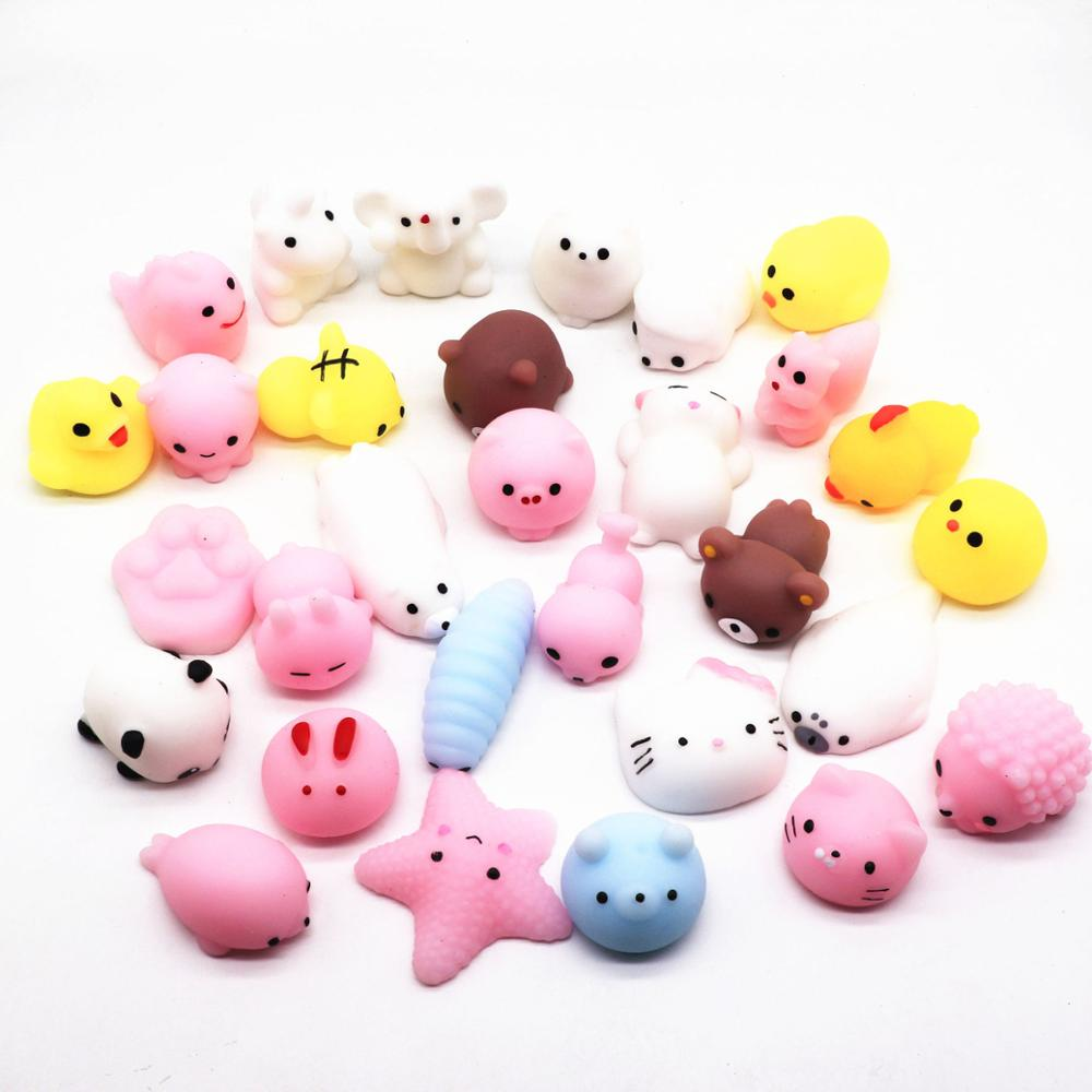 24pcs/lot Cute Mochi Squishy Cat Slow Rising Squeeze Healing Fun Kids Kawaii Kids Adult Toy Stress Reliever Decor