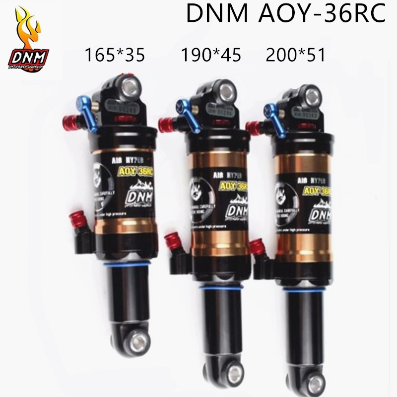 DNM AOY-36 Mountain Downhill Bike Coil Rear Shock 165mm 190mm 200mm Bicycle Suspension Parts Double Air  Rear Shock With Lockout