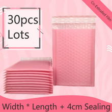 30pcs/lots Clothes Bags Light Pink Poly Bubble Mailer Bags Envelopes Padded Pink Self Sealing Mailer Sealing Mail Sacks