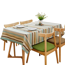 Checkered Decorative Linen Tablecloth Stripe Rectangular Waterproof Oilproof Dense Wedding Table Tablecloth Tea Tablecloth
