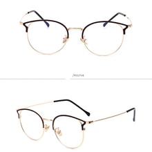 New Retro Metal Glasses Frame Flat Mirror Anti-blue Glasses