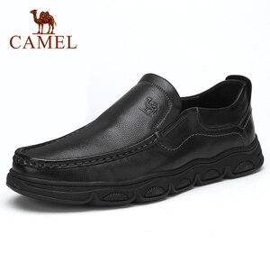 Image 1 - Zapatos de hombre CAEML, nuevos conjuntos informales de piel auténtica de vaca para hombre, zapatos de negocios, cómodos y suaves, calzado acolchado ligero para hombre