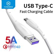 Hagibis USB Type C Cable for Samsung S10 S9 5A 40W Fast Charge USB-C Charging Wire USB C Cable for Xiaomi mi9 Redmi note7 Huawei