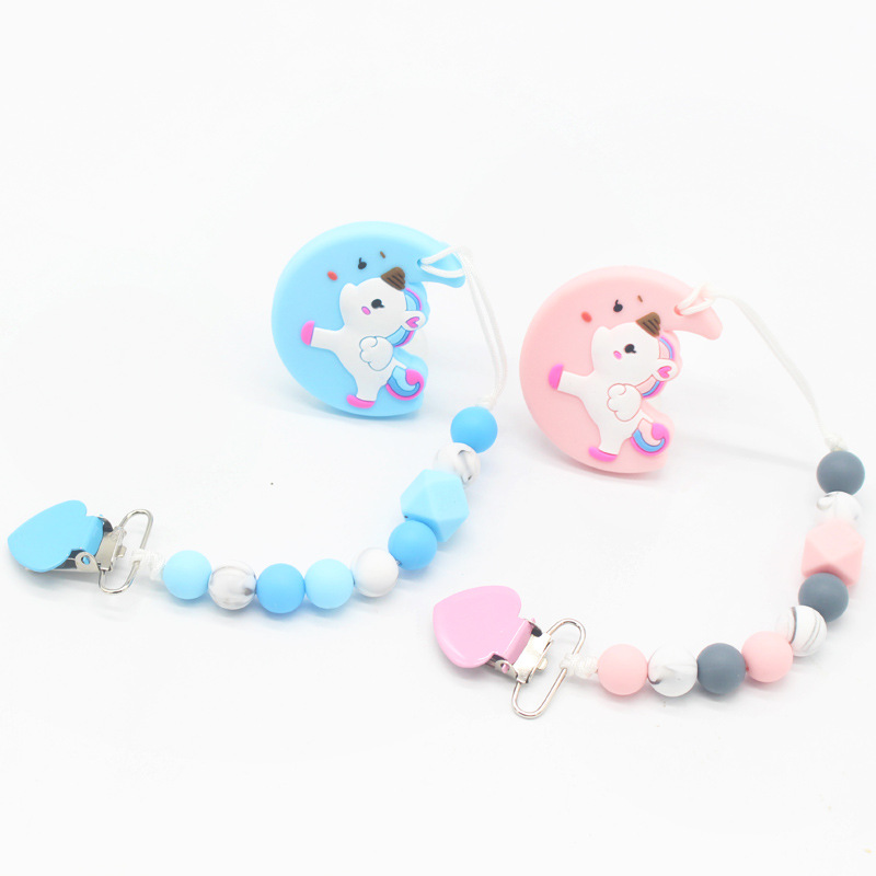 Baby Silicone Pacifier Chain Baby Teeth Grinding Chain Soothes Tooth Glue Anti-dropping Personalized Baby Pacifier Clips Gifts