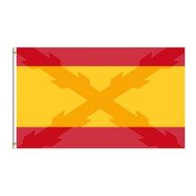 Bandera de españa com a cruz de borgoña sobreimpressionada