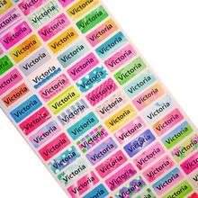 100 stücke Personalisierte Name Aufkleber Wasserdicht Schule Label Aufkleber Multi Zweck Bunte Multi Farbe