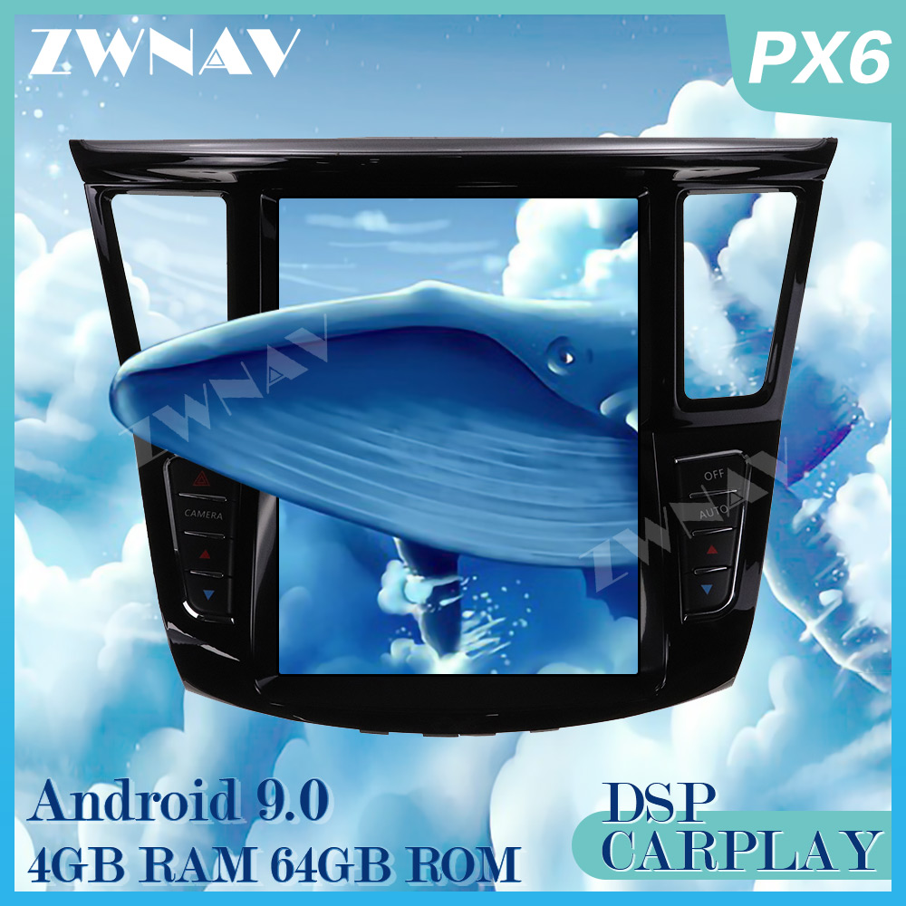 Tesla style Android 9.0 Screen Car Multimedia Player For <font><b>Infiniti</b></font> <font><b>QX60</b></font> <font><b>JX35</b></font> 2012-2019 GPS radio stereo wifi big screen head unit image