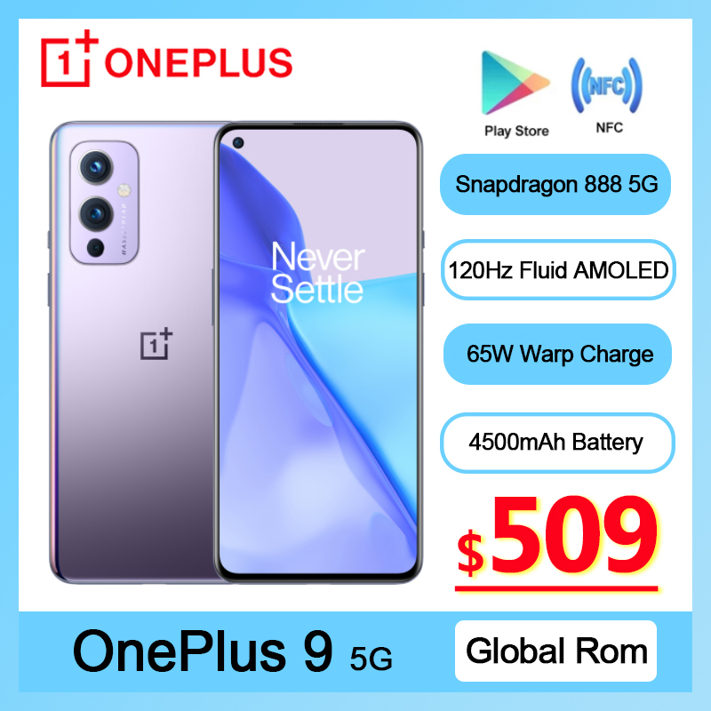 Global Rom OnePlus 9 5G Smartphone Snapdragon 888 Android 11 6.55'' 4500 mAh 120Hz Fluid AMOLED NFC Oneplus9 Mobile Phone|Cellphones| - AliExpress