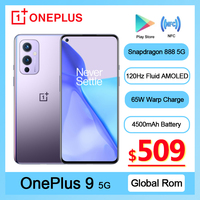 Rom Global OnePlus 9 5G Smartphone Snapdragon 888 Android 11 6,55