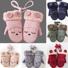 Mitten Twist-Gloves Baby Girls Boys Winter Children Warm Character Thicken
