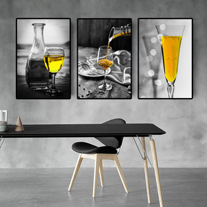 Nordic Style Kitchen Wall Art Canvas Painting Beer Posters and Prints Wall Pictures for Kitchen Room Living Room Home Wall Decor