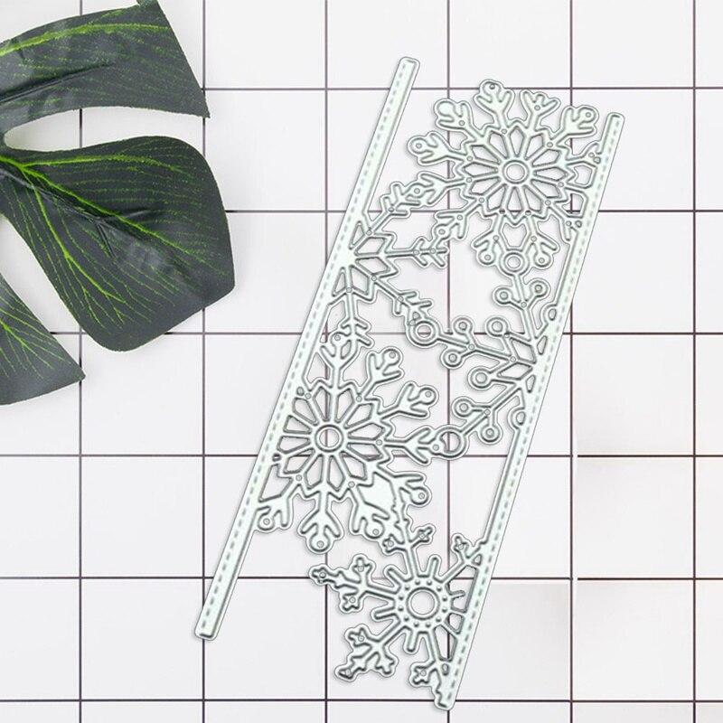 Металлические штампы со снежинками, трафареты для рукоделия, скрапбукинг, рождественские штампы, ремесленные штампы для рукоделия, тиснени...