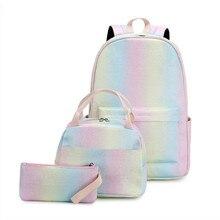 Teens School Backpack Set Girls Women Bags Lightweight Waterproof Nylon Travel Kids Bookbags Casual Daypack