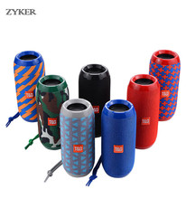 Waterproof Portable Outdoor Bluetooth Wireless Speaker Stereo Column Fabric Subwoofer Speaker Support TF card FM Radio AUX Input цена 2017
