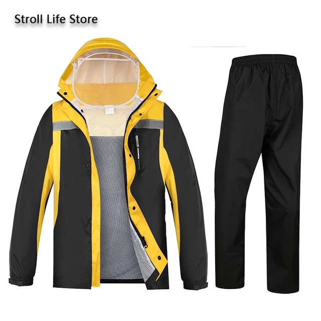 Waterproof Electric Motorcycle Raincoat Poncho Women Split Adult Hiking Jacket Rain Pants Hiking Rainwear Capa De Chuva Gift