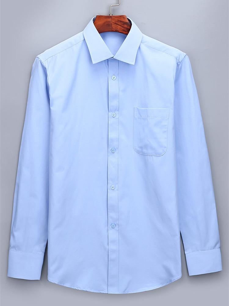 Social Shirt Dress Slim-Fit Long-Sleeve Blue White Male Yellow Plus-Size 5XL 6XL Men's