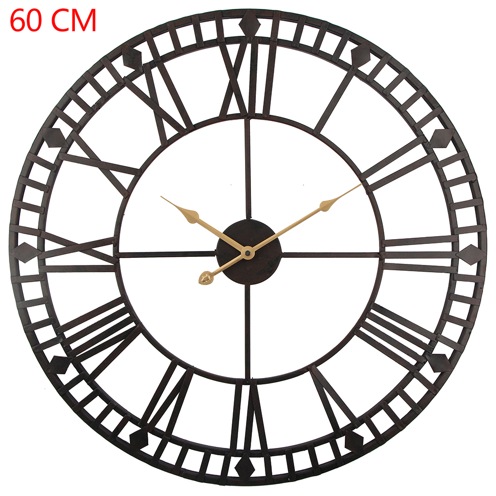 Large Outdoor Garden Wall Clock Hand Painted Large Big Roman Numerals Outside