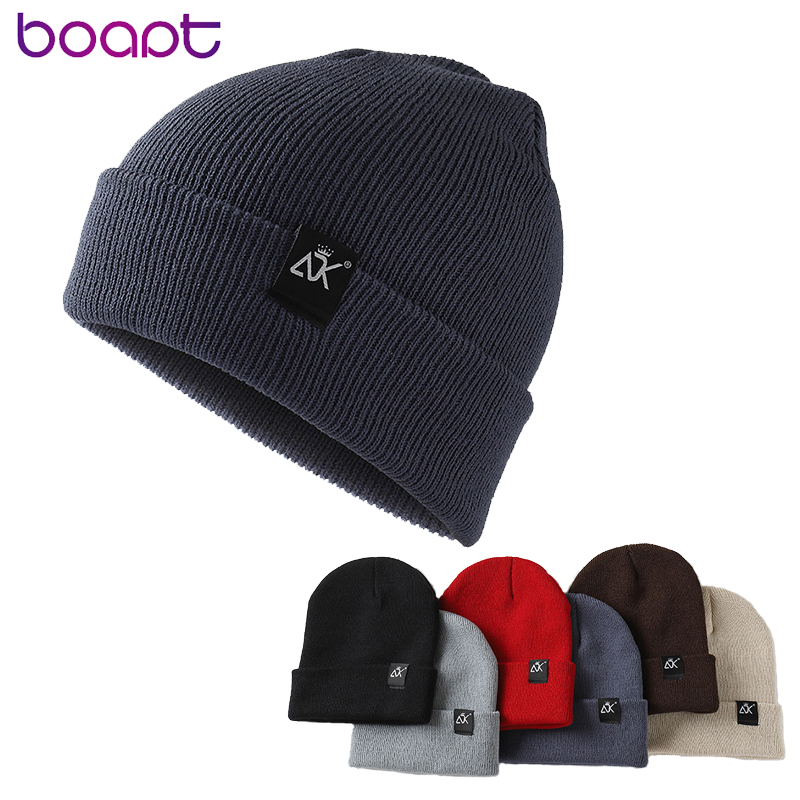 Fashion Women Men Solid Color Letter Knitted Skuilles Cap For Unisex Winter Keep Warm Beanies Female Acrylic Hip Hop Cap Bonnet