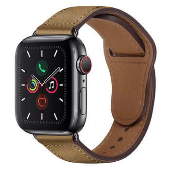 strap genuine leather bands for apple watch 38mm 42mm 40mm 44mm smart watches band for i watch series 5 4 3 2 1 women s bracelet Leather strap For Apple watch band 44mm 40mm iWatch band 42mm 38mm Genuine Leather belt bracelet Apple watch series 5 4 3 2 SE 6