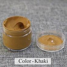 Краска для восстановления ухода за кожей цвета хаки, специально используемая для окрашивания кожаного дивана, сумок, обуви и одежды и т. д. с хорошим эффектом, 30 мл