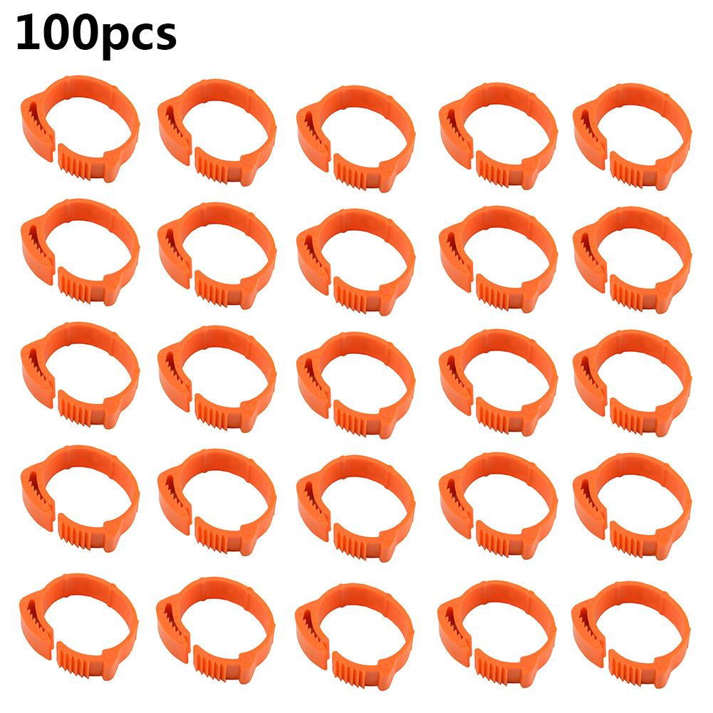 100pcs Poultry Foot Ring 16mm 20mmNO:001-100 Digital Clamp Chicken Duck Goose Farming Equipment